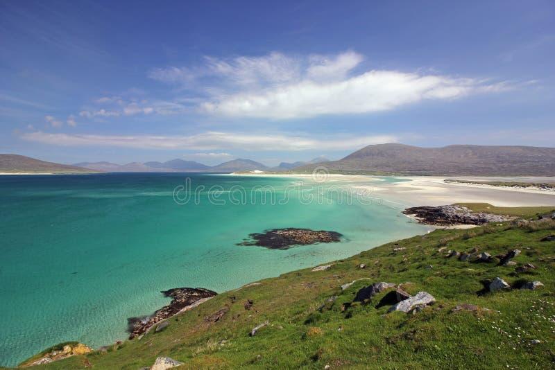 Luskentyre strand, ö av Harris, Skottland royaltyfri foto