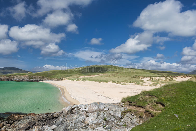 Luskentyre strand på Harris royaltyfria foton
