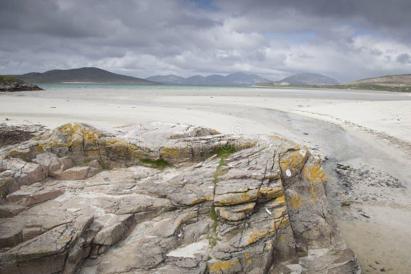 Luskentyre strand, Skottland arkivfoton