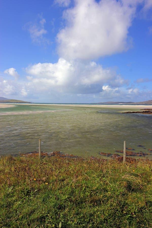 Luskentyrestrand, Eiland van Harris, Schotland stock foto's