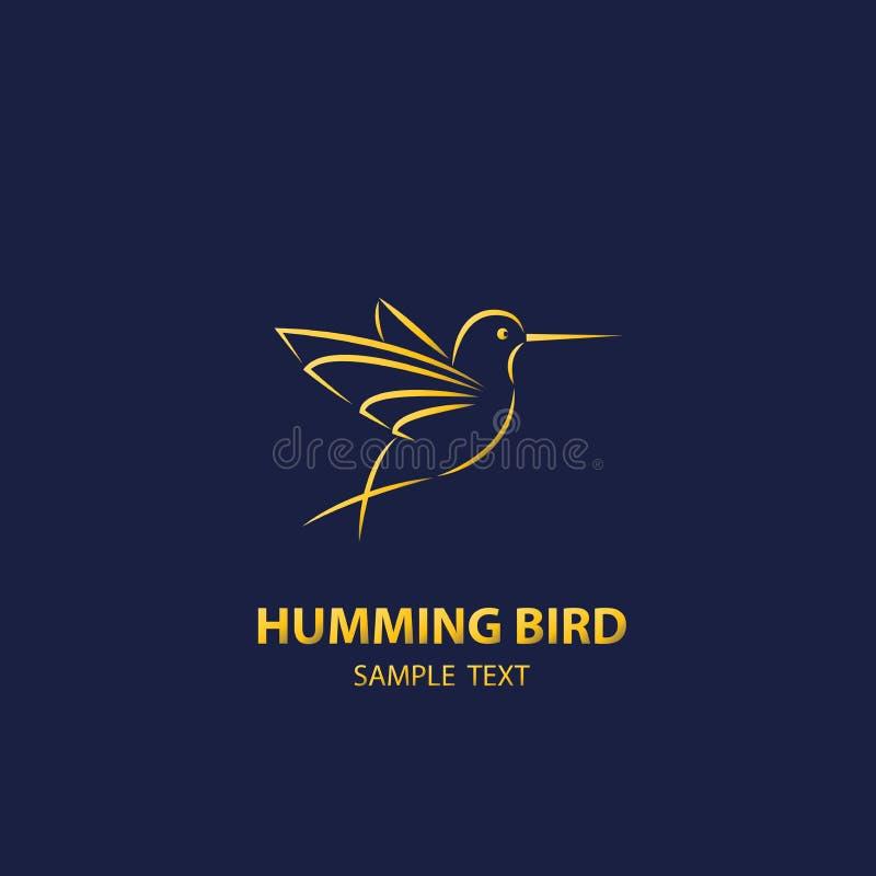 Lusso di progettazione di logo dell'uccello di ronzio royalty illustrazione gratis