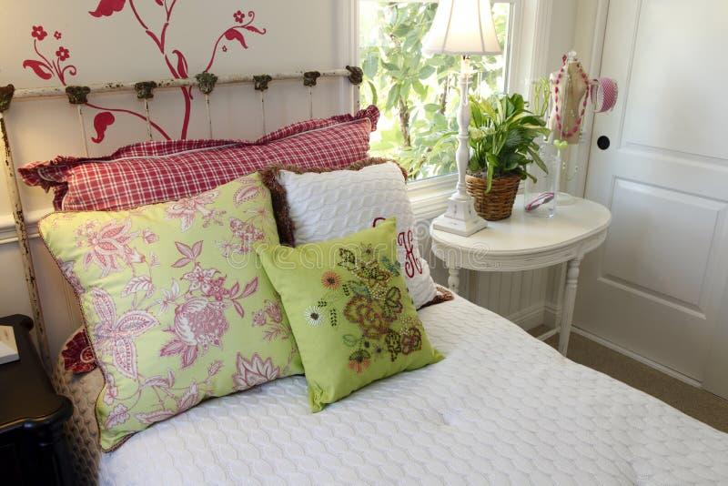 lusso domestico della camera da letto immagine stock libera da diritti