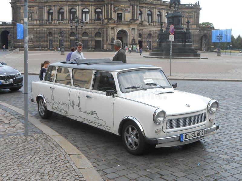 Lusso-Trabi a Dresda! fotografia stock