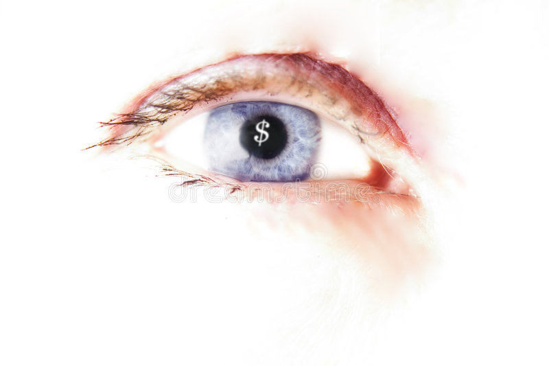 Download Lust of the eye stock image. Image of vision, currency - 102933