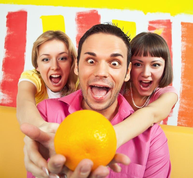 Download Lust for orange stock photo. Image of orange, blond, agitation - 12051312