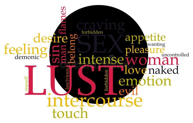 Download Lust word cloud stock vector. Image of desire, cupid - 27587485