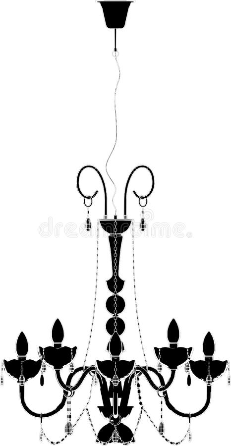 Download Luster Chandelier Vector 01 Royalty Free Stock Photos - Image: 13235458