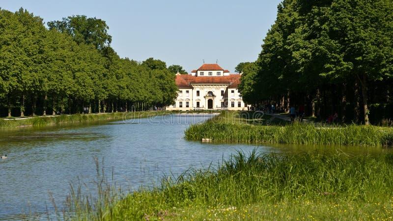 Lustheim Palace near Munich stock photography