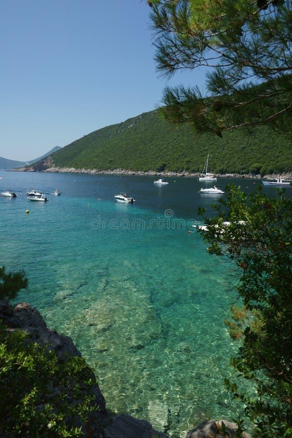 Lusticaschiereiland in Montenegro royalty-vrije stock foto's