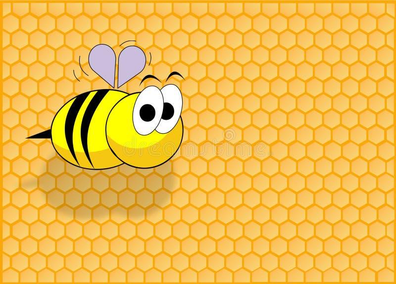 Lustige Biene lizenzfreie abbildung