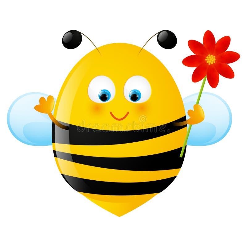 Lustige Biene stock abbildung