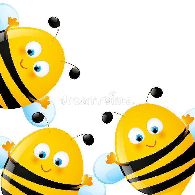Lustige Bienen vektor abbildung