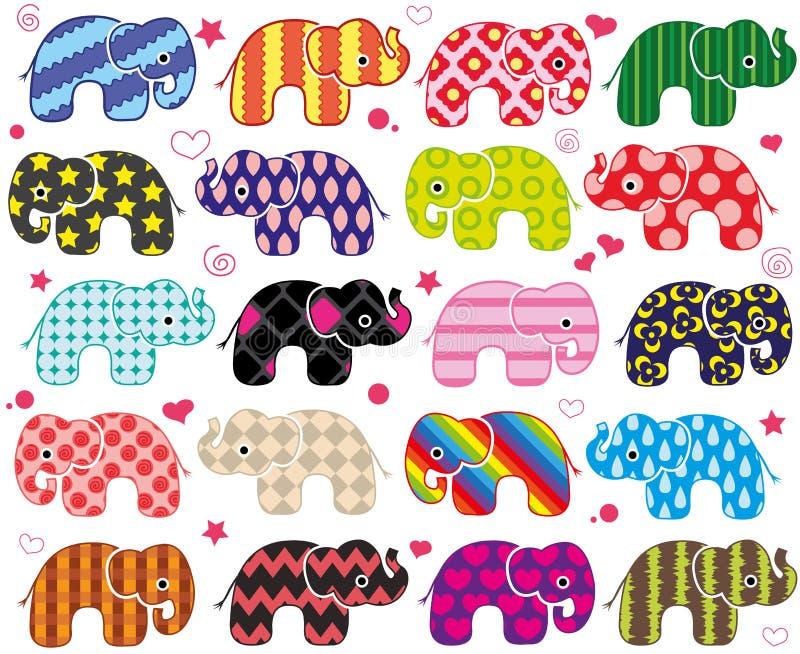 Lustige Elefanten der Karikatur stock abbildung