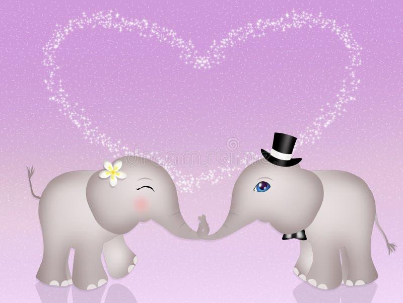 Lustige Elefanten in der Liebe vektor abbildung