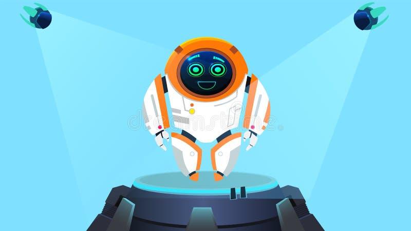 Lustige Entwurfs-Roboter-Generations-Illustration stock abbildung