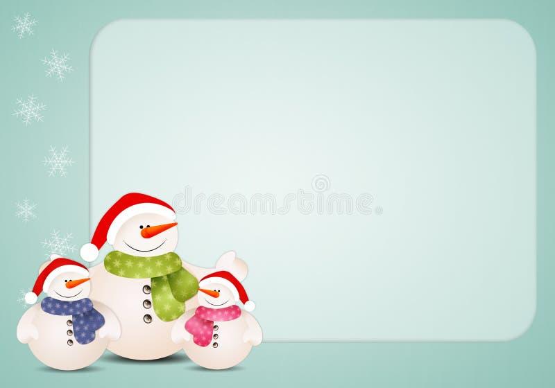 lustige familie des schneemannes f r weihnachten stock. Black Bedroom Furniture Sets. Home Design Ideas