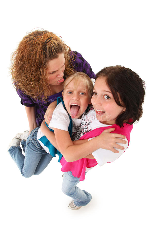 Lustige Familien-Ausdrücke lizenzfreies stockfoto