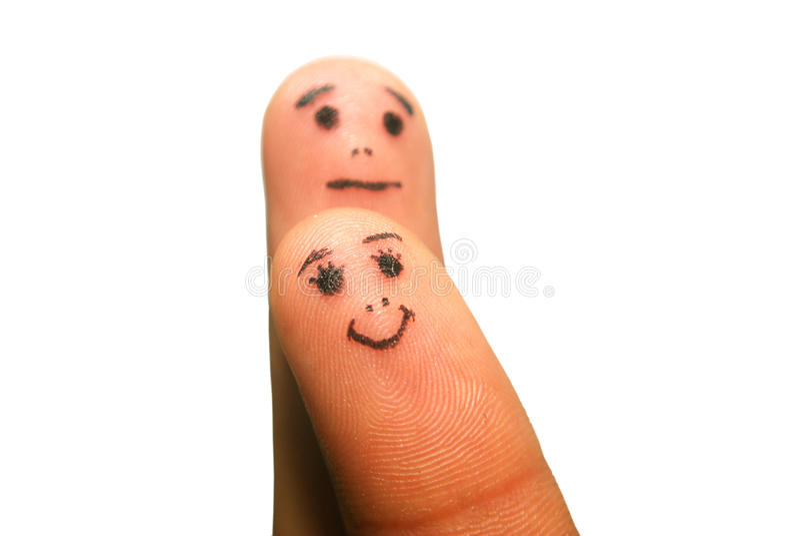 Lustige Finger lizenzfreie stockfotos