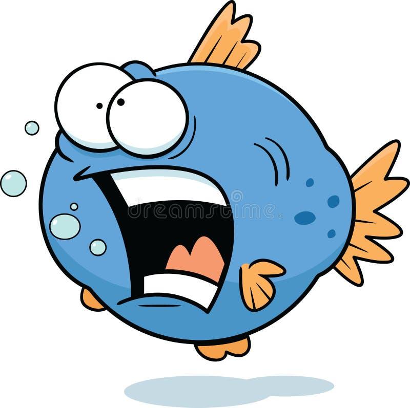 Lustige Fische der Karikatur lizenzfreie abbildung