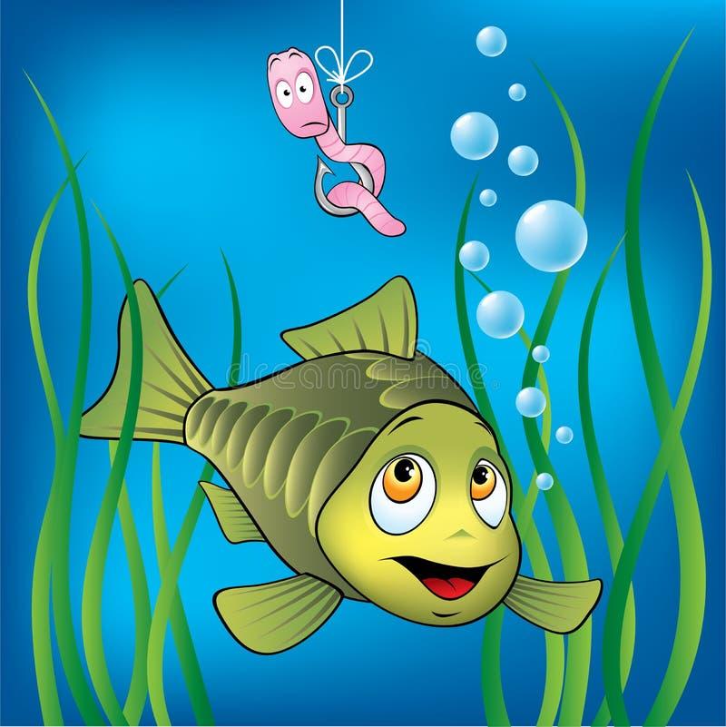 Lustige Fische und Endlosschraube stock abbildung