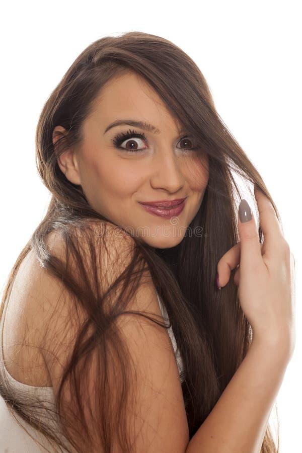 Lustige Frau lizenzfreie stockfotografie