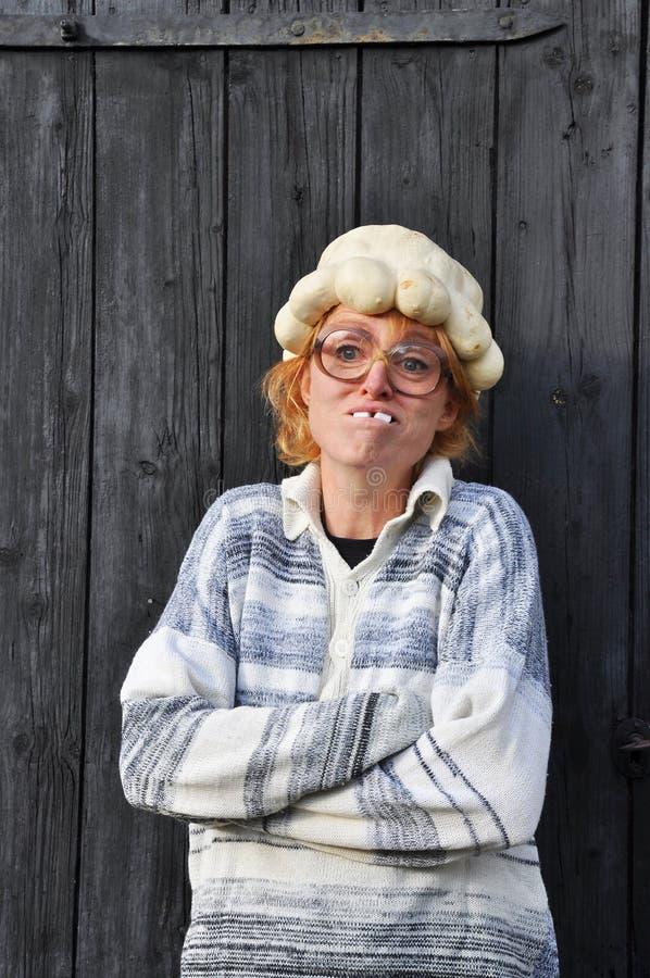 Lustige Frau stockfoto. Bild von portrait, halloween