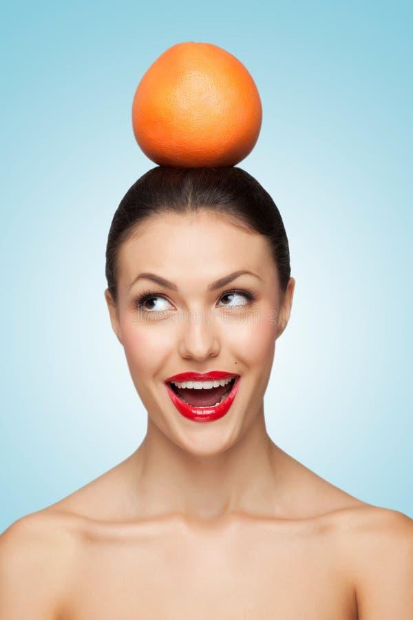 Lustige Frucht stockfotos