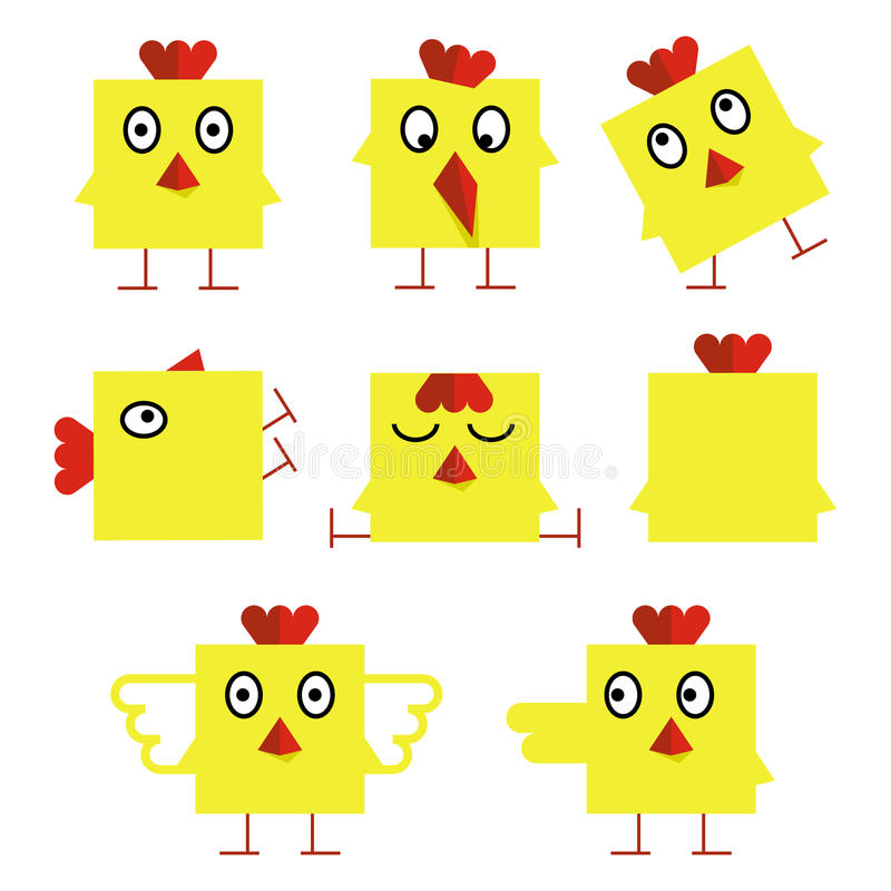 Lustige gelbe Ostern-Küken lizenzfreies stockbild