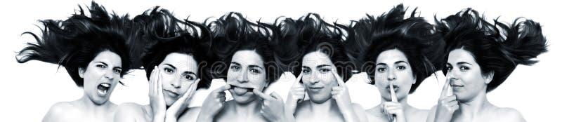 Lustige Gesichter stockfotos