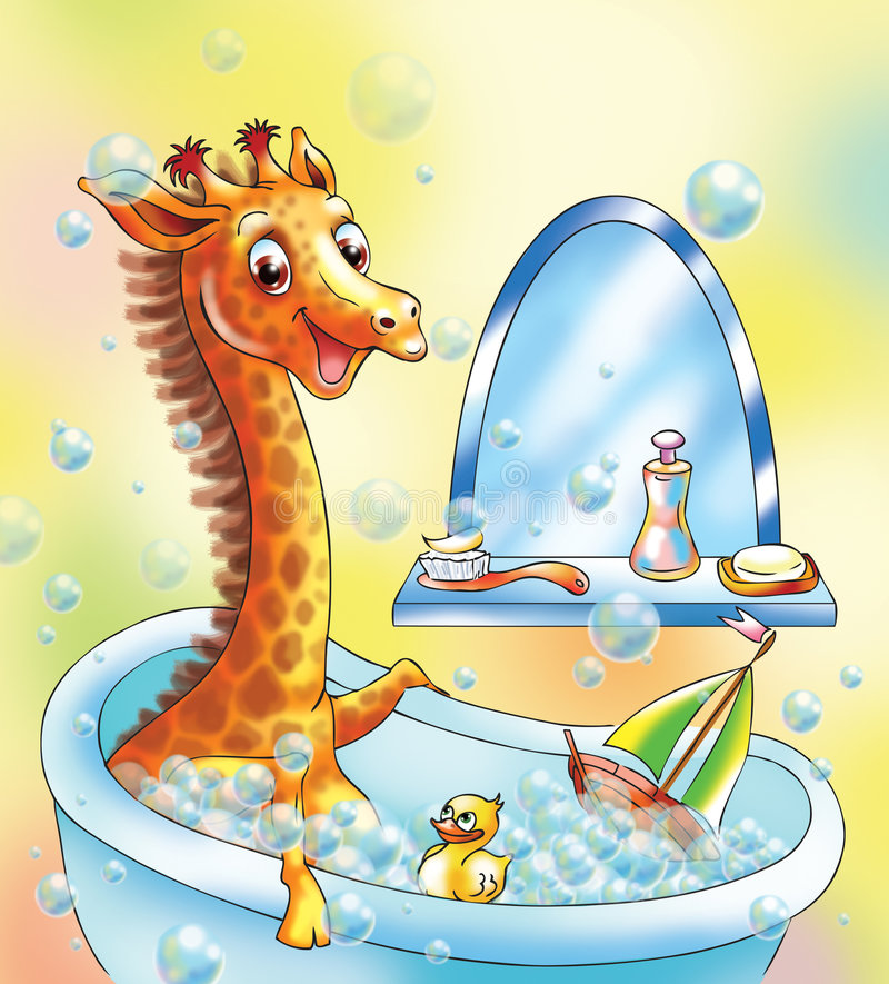 Lustige Giraffe vektor abbildung