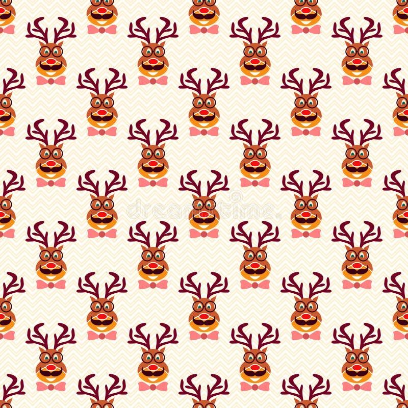 Lustige Hippie-Rotwild der abstrakten Weihnachtsweinlese vektor abbildung
