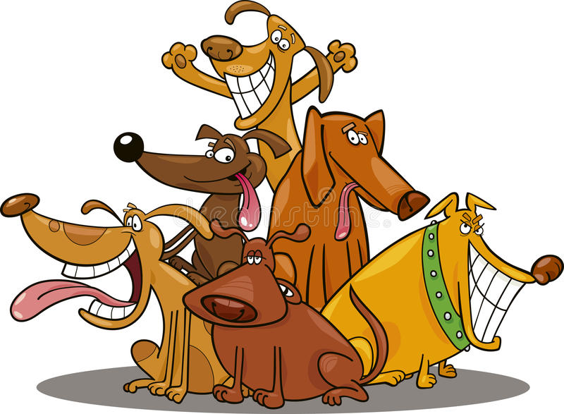 Lustige Hunde lizenzfreie abbildung