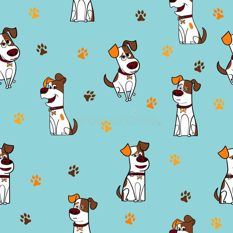 Lustige Hundenahtloses Muster lizenzfreies stockfoto