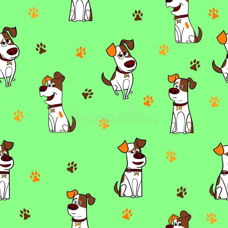 Lustige Hundenahtloses Muster lizenzfreie stockfotos