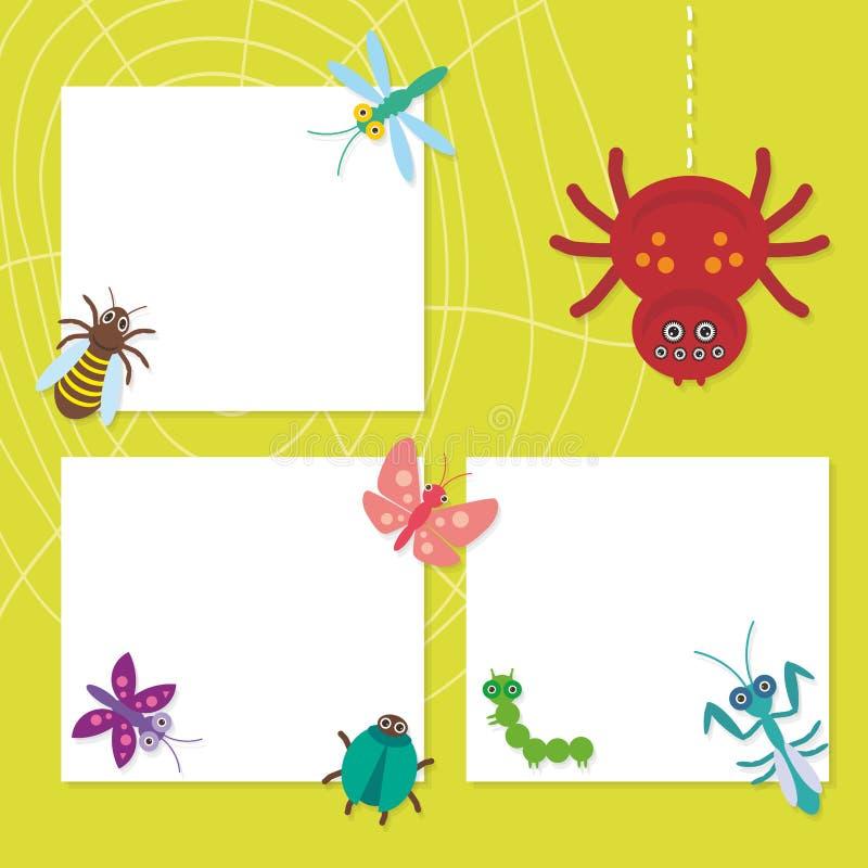 Lustige Insekten stellten Spinnenschmetterlingsgleiskettenfahrzeug ein stock abbildung