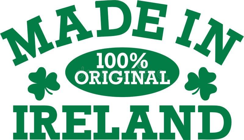 Lustige irische Kinder, die - gemacht in Vorlage Irlands 100% sagen stock abbildung