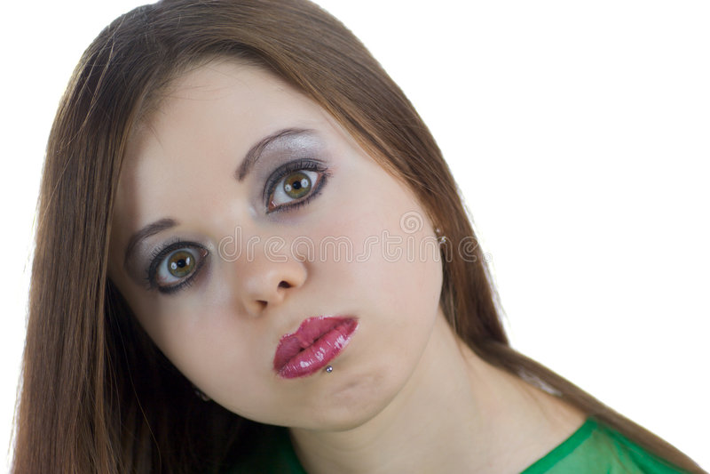 Lustige junge Frau lizenzfreies stockbild