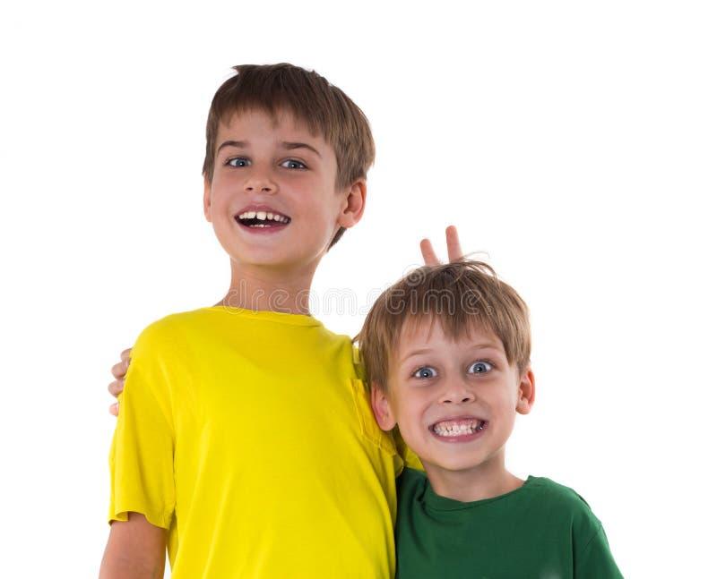 Lustige Jungen lizenzfreie stockbilder