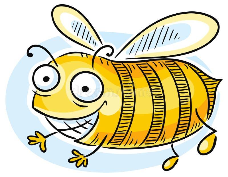 Lustige Karikatur-Biene lizenzfreie abbildung