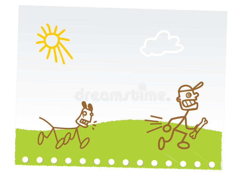 Lustige Kindhandzeichnung Stockfotos