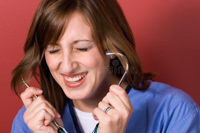 Lustige Krankenschwester lizenzfreie stockbilder
