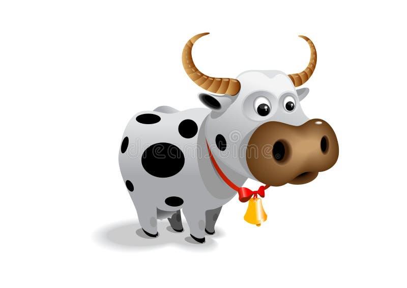 Lustige Kuh stock abbildung