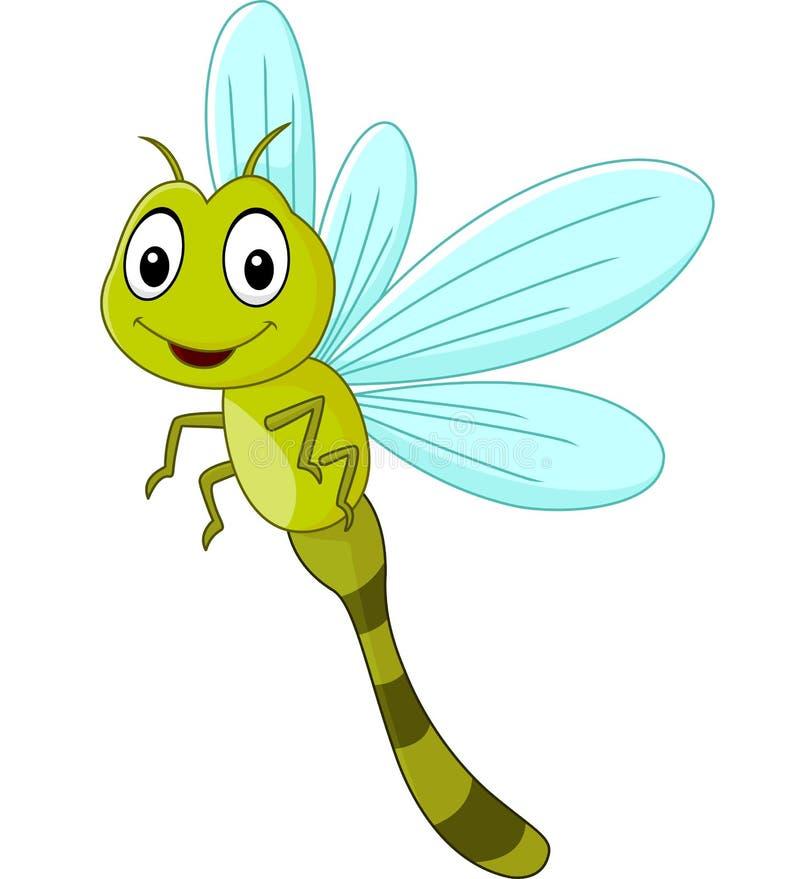Lustige Libelle der Karikatur stock abbildung