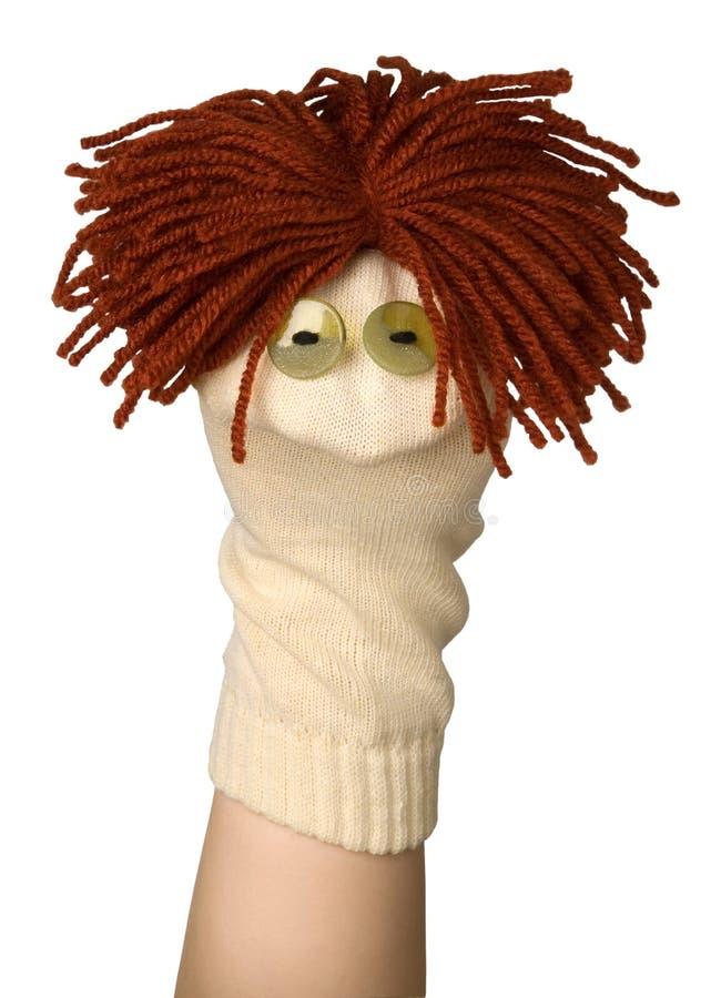 Lustige Marionette lizenzfreie stockbilder