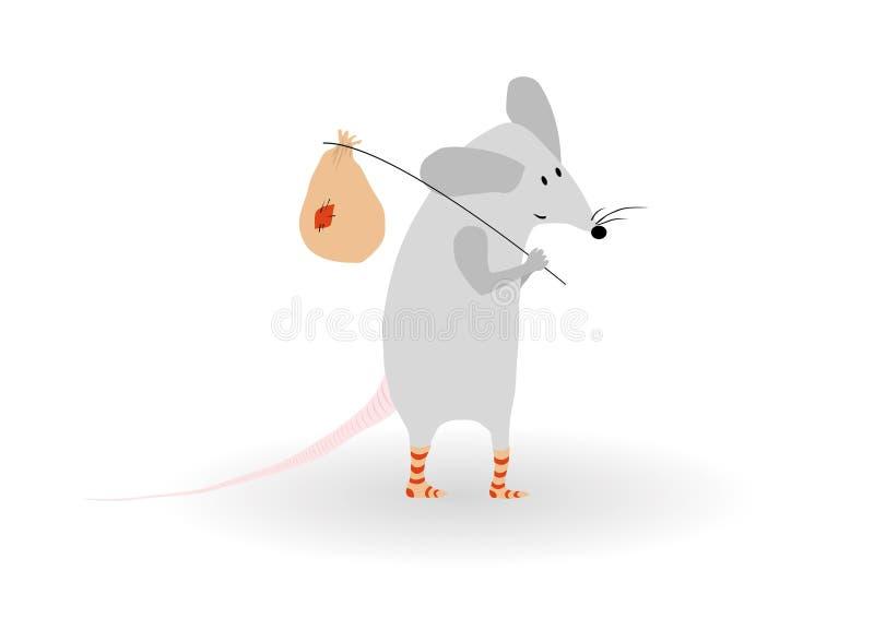 Lustige Maus lizenzfreie abbildung