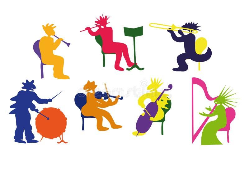 Lustige Monster des Orchesters vektor abbildung