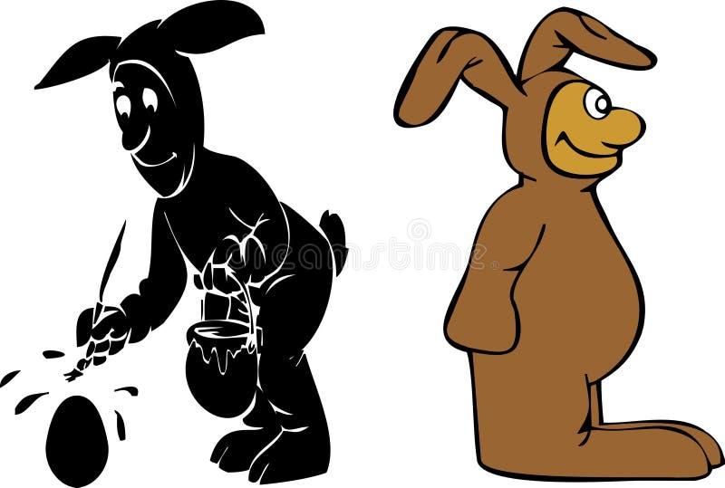 Lustige Ostern-Kaninchen vektor abbildung