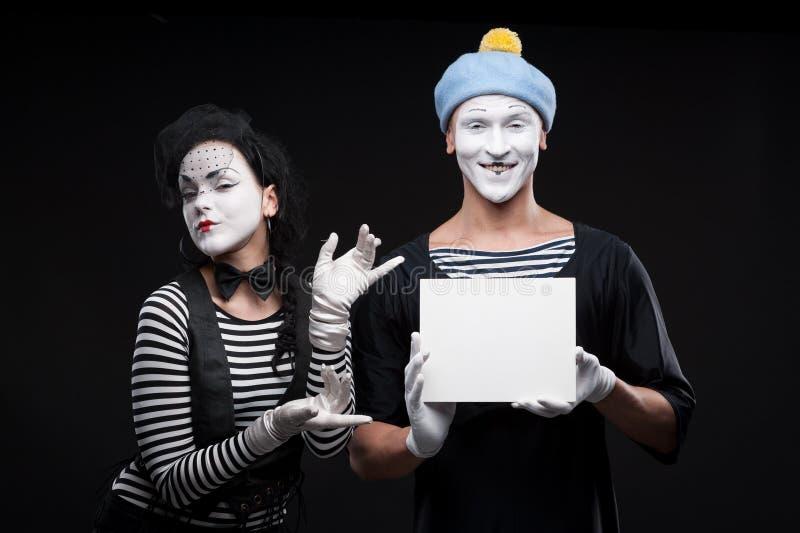 Lustige Pantomimen stockfoto