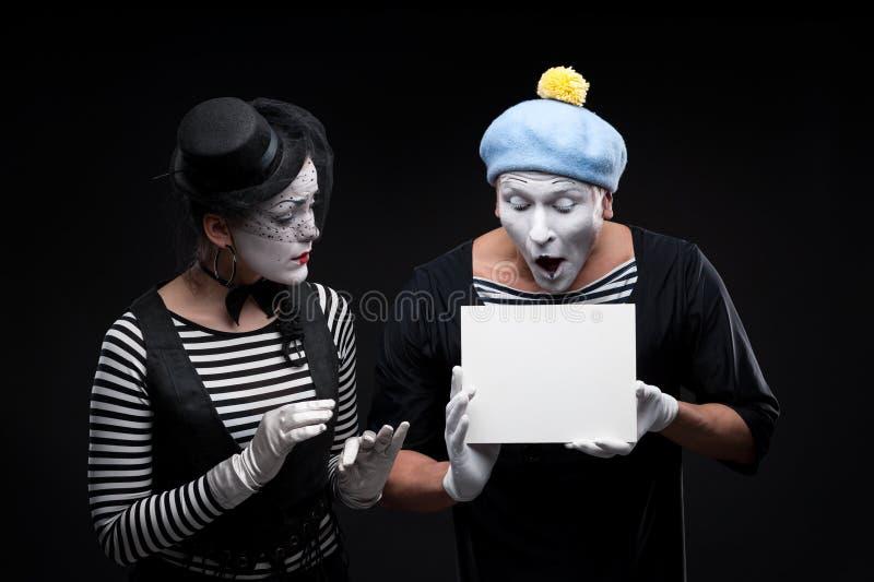 Lustige Pantomimen lizenzfreies stockbild