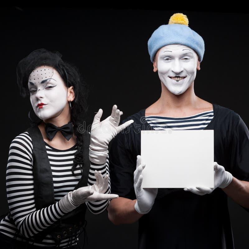 Lustige Pantomimen stockbild